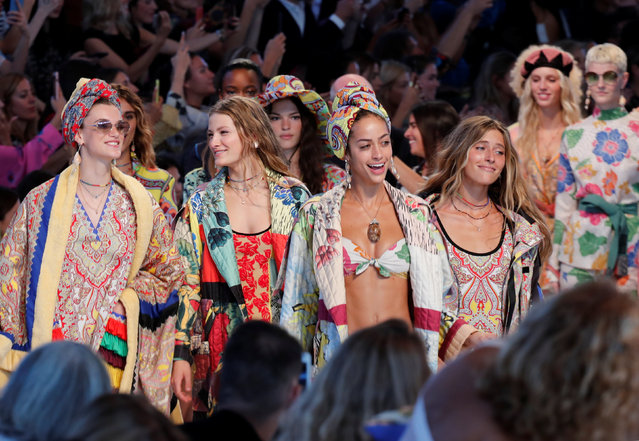 Models parade at the end of the Etro fashion show during Milan Fashion Week Spring 2019 in Milan, Italy, September 21, 2018. (Photo by Stefano Rellandini/Reuters)