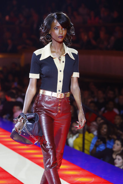 A model wears a creation as part of the Tommy Now ready to wear Fall-Winter 2019-2020 collection, that was presented in Paris, Saturday, March 2, 2019. (Photo by Michel Euler/AP Photo)