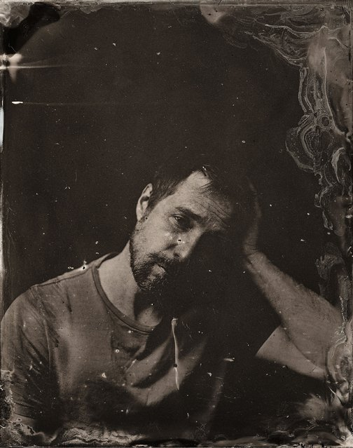Sam Rockwell poses for a tintype (wet collodion) portrait at The Collective and Gibson Lounge Powered by CEG, during the 2014 Sundance Film Festival in Park City, Utah. (Photo by Victoria Will/AP Photo/Invision)
