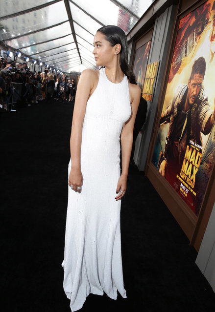 "Courtney Eaton seen at the Warner Bros. premiere of ""Mad Max: Fury Road"" on Thursday, May 7, 2015, in Los Angeles. (Photo by Eric Charbonneau/Invision for Warner Bros./AP Images)"