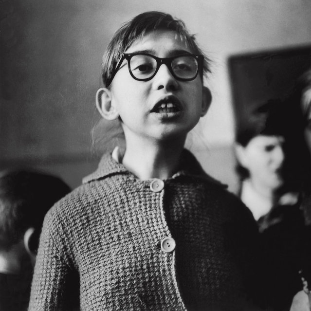 """Speaking about his work – and his love of photographing children – Sutkus has said that """"one has to love people in order to take pictures of them"""". Here: School for blind children, 1962. (Photo by Antanas Sutkus)"""