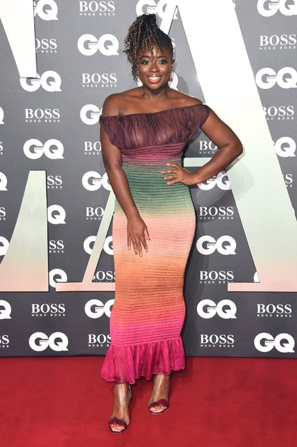 Clara Amfo attends the GQ Men Of The Year Awards 2019 at Tate Modern on September 03, 2019 in London, England. (Photo by PA Wire Press Association)