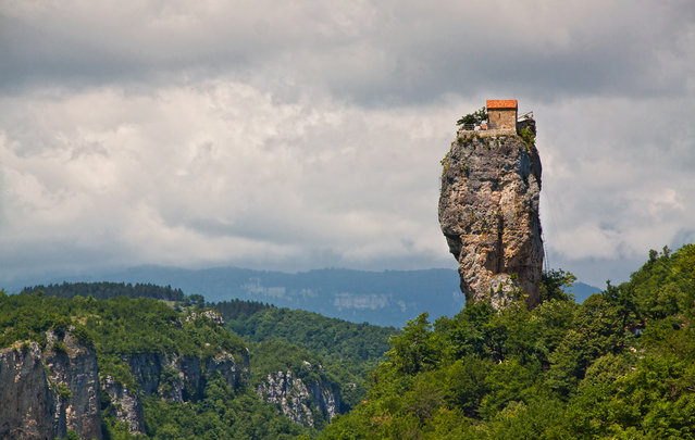 Katskhi Pillar In Georgia