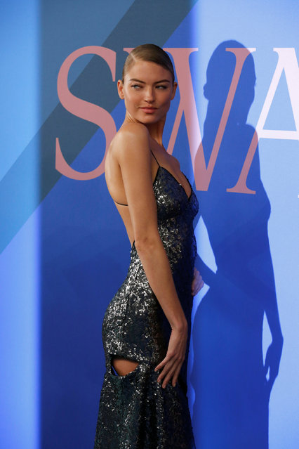 Model Martha Hunt attends the CFDA Fashion Awards in Manhattan, New York, U.S., June 5, 2017. (Photo by Andrew Kelly/Reuters)