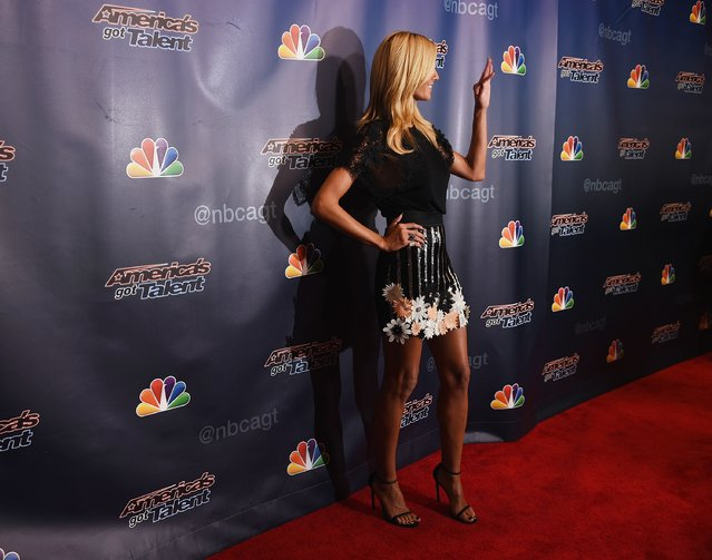 """Model/TV personality Heidi Klum attends the """"America's Got Talent"""" season 10 taping at Radio City Music Hall at Radio City Music Hall on August 12, 2015 in New York City. (Photo by Michael Loccisano/Getty Images)"""