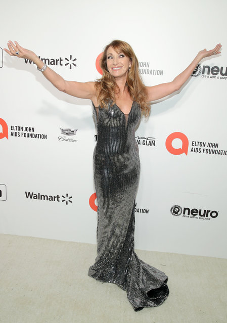 Jane Seymour attends the 28th Annual Elton John AIDS Foundation Academy Awards Viewing Party sponsored by IMDb, Neuro Drinks and Walmart on February 09, 2020 in West Hollywood, California. (Photo by Jemal Countess/Getty Images)