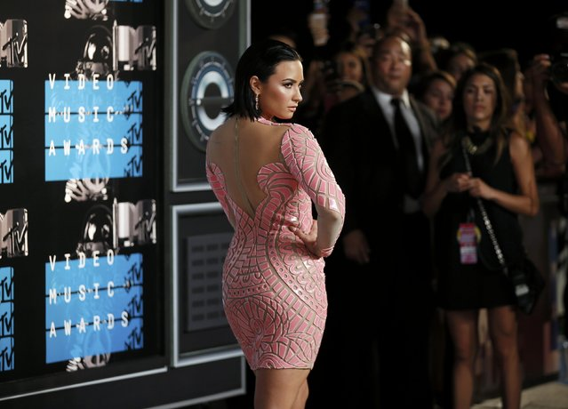 Recording artist Demi Lovato arrives at the 2015 MTV Video Music Awards in Los Angeles, California, August 30, 2015. (Photo by Danny Moloshok/Reuters)