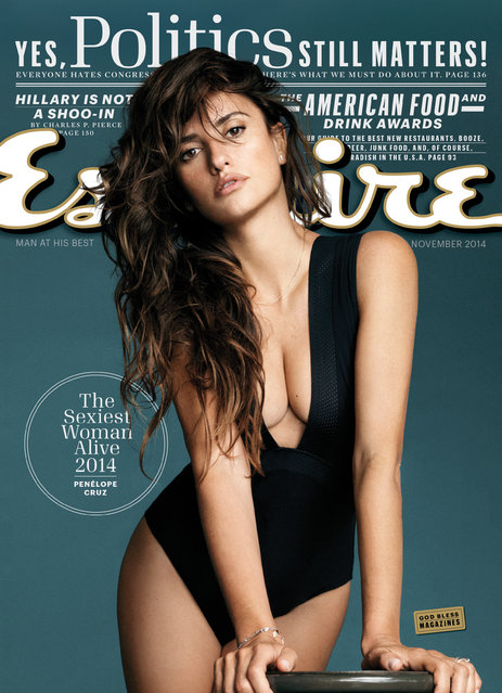 "This image released by Esquire shows actress Penelope Cruz on the November 2014 cover of ""Esquire"" magazine. The magazine has named Cruz The Sexiest Woman Alive for 2014. (Photo by AP Photo/Esquire)"