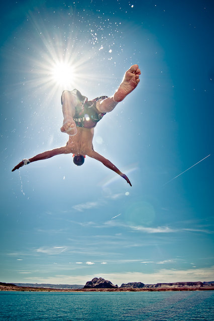 """""""Jumpology"""". """"I Can't Quite See Up Your Swimsuit, Which Is Good Because If I Could It Would Ruin An Otherwise Awesome Photo"""". (Photo by Jeremy Lusk)"""