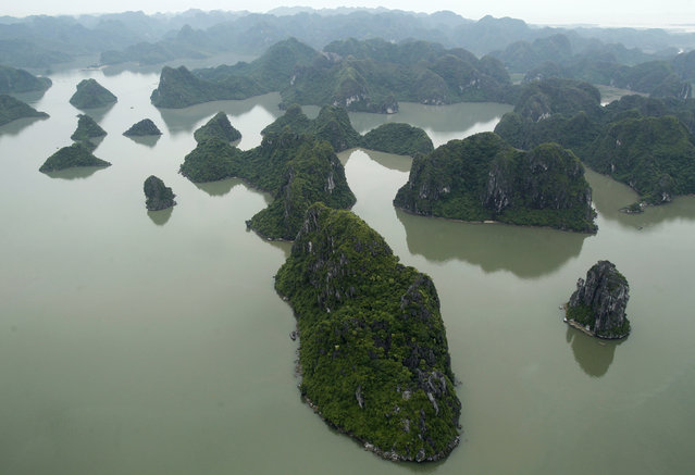 Ha Long Bay in Vietnam is seen from a seaplane. (Photo by Reuters/Kham)