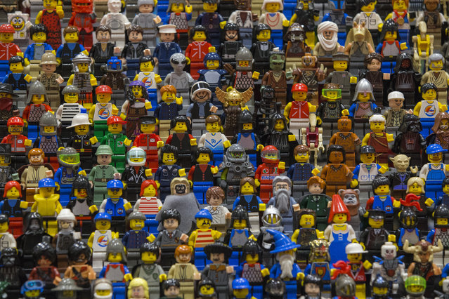 Lego figures are displayed on the opening day of BRICK 2014 at the Excel Centre on November 27, 2014 in London, England. The four day event showcases creations by some of the world's best Lego builders and runs until November 30th. (Photo by Dan Kitwood/Getty Images)