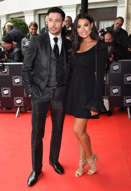 Giovanni Pernice and Jess Wright attend the TRIC Awards 2018 held at The Grosvenor House Hotel on March 13, 2018 in London, England. (Photo by Goff Photos)
