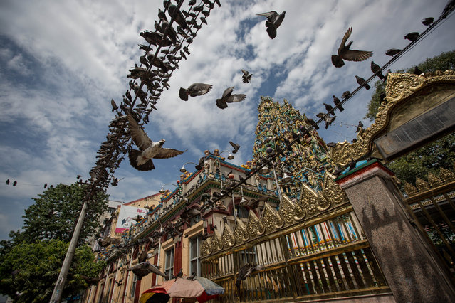 The Shri Kali Hindu temple in Yangon, Myanmar on October 28, 2015. Hinduism in Myanmar is practised by 2% of the population – about 840,000 people. (Photo by Guillaume Payen/ZUMA Press/Corbis)