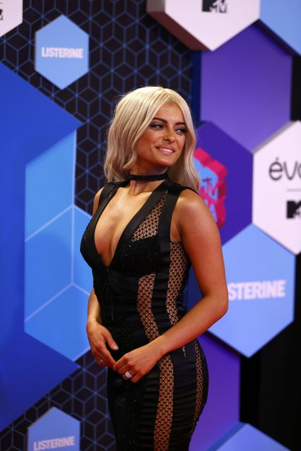 MTV EMA 2016 host Bebe Rexha attends the 2016 MTV Europe Music Awards at the Ahoy Arena in Rotterdam, Netherlands, November 6, 2016. (Photo by Michael Kooren/Reuters)