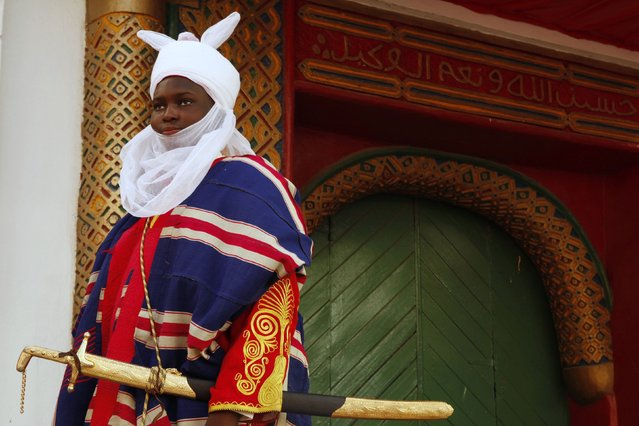 A young prince, dressed ready for the coronation of new Emir of Kano Muhamadu Sanusi II, is pictured in Kano, Kano State, February 7, 2015. (Photo by Afolabi Sotunde/Reuters)