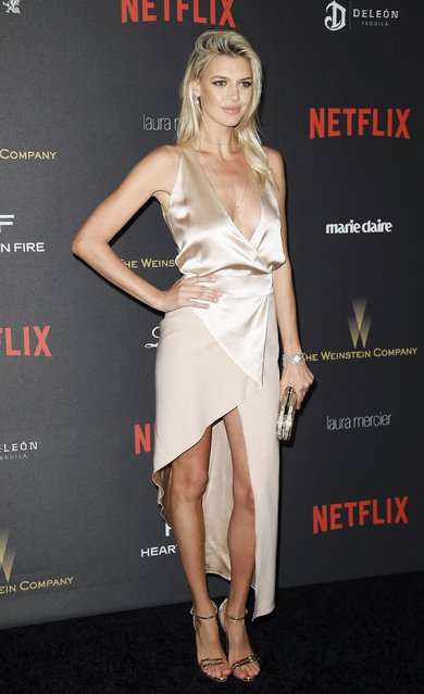 Model Kelly Rohrbach arrives at The Weinstein Company & Netflix Golden Globe After Party in Beverly Hills, California January 10, 2016. (Photo by Danny Moloshok/Reuters)