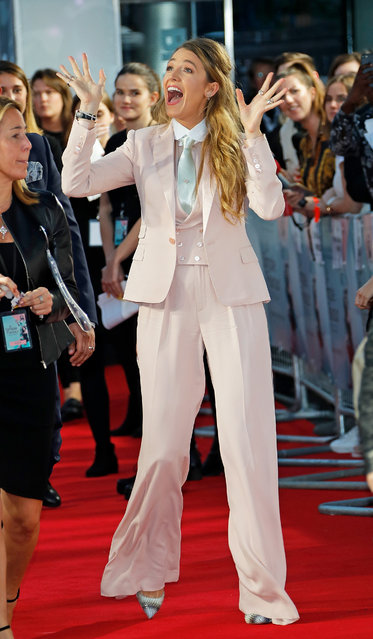 """Blake Lively attends the UK Premiere of """"A Simple Favour"""" at the BFI Southbank on September 17, 2018 in London, England. (Photo by David M. Benett/Dave Benett/WireImage)"""