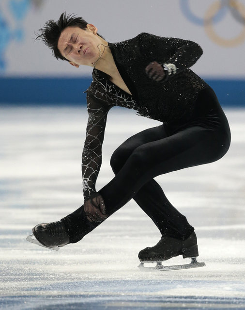 Denis Ten of Kazakhstan competes in the men's short program figure skating competition at the Iceberg Skating Palace during the 2014 Winter Olympics, Thursday, February 13, 2014, in Sochi, Russia. (Photo by Ivan Sekretarev/AP Photo)