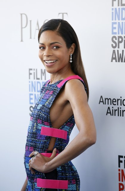 Actress Naomie Harris arrives at the 2017 Film Independent Spirit Awards in Santa Monica, California, U.S., February 25, 2017. (Photo by Danny Moloshok/Reuters)