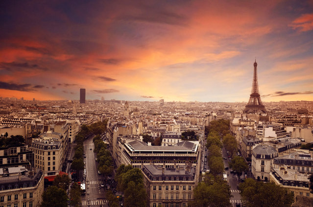 Panoramic view of Paris, France, 2012. (Photo by Lassedesignen/Fotolia)