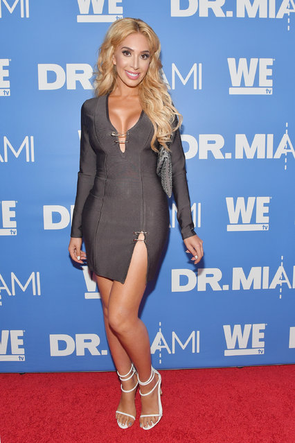 """Farrah Abraham arrives at WE tv's Premiere Party for Their New Show """"Dr. Miami"""" at the Tuck Room in North Miami Beach on March 30, 2017 in North Miami Beach, Florida. (Photo by Rodrigo Varela/Getty Images for WE tv)"""