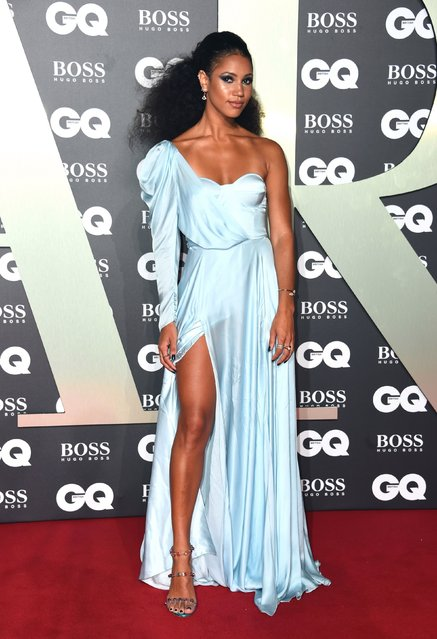 Vick Hope attends the GQ Men Of The Year Awards 2019 at Tate Modern on September 03, 2019 in London, England. (Photo by PA Wire Press Association)