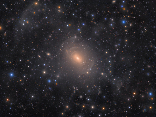 Shells of Elliptical Galaxy NGC 3923 in Hydra, by Rolf Wahl Olsen. Winner: Galaxies. (Photo by Rolf Wahl Olsen/Astronomy Photographer of the Year)