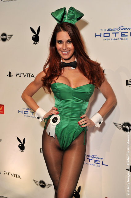 Playboy Playmate Jaime Edmondsson attends the 2012 Playboy Party hosted by Bud Light Hotel