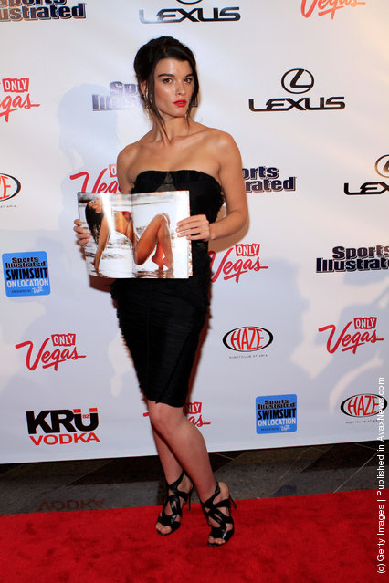 SI swimsuit model Crystal Renn arrives at SI Swimsuit On Location hosted by Haze Nightclub at the Aria Resort & Casino at CityCenter