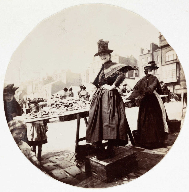 Woman at a market stall, about 1890. (Photo by Collection of National Media Museum/Kodak Museum)