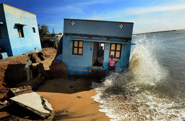 "The Atkins built environment award 2016 goes to Indian photojournalist S.L. Kumar Shanth for ""Losing Ground to Manmade Disaster"", which depicts the damage being wrought on the coastline at Chennai, the biggest metropolis in southern India, by a combination of man-made and natural forces. (Photo by S.L. Shanth Kumar/2016 EPOTY)"