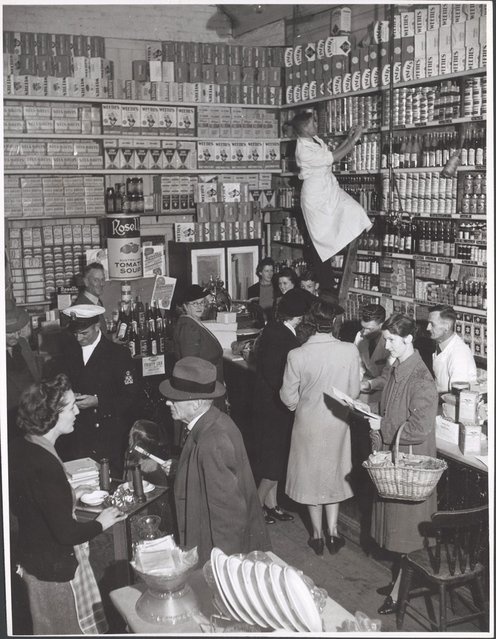 Grocery section, Bell and Macaulay's Store, Drouin, Victoria, ca. 1944