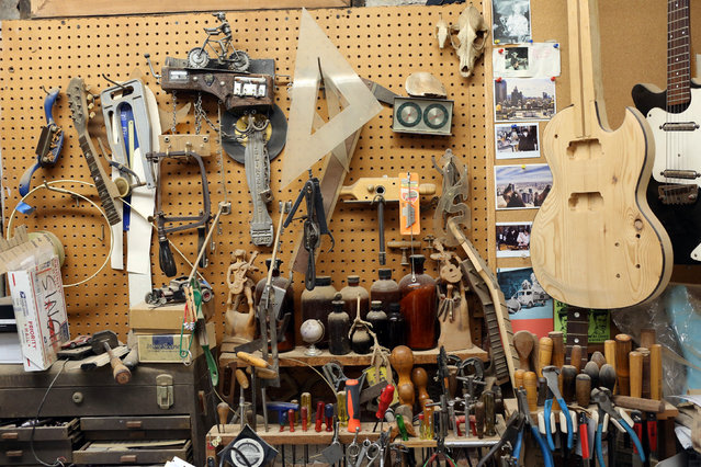 Tools are seen at Carmine Street Guitars in New York City, U.S., July 21, 2016. (Photo by Joe Penney/Reuters)
