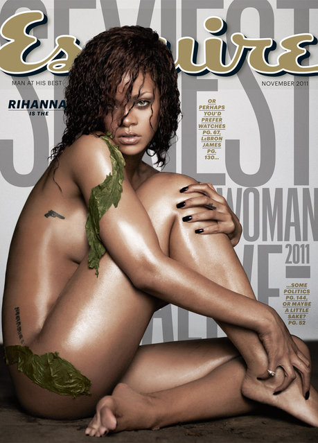 "Singer Rihanna is shown on the November 2011 Sexiest Woman Alive issue of ""Esquire"". (Photo by AP Photo/Esquire)"