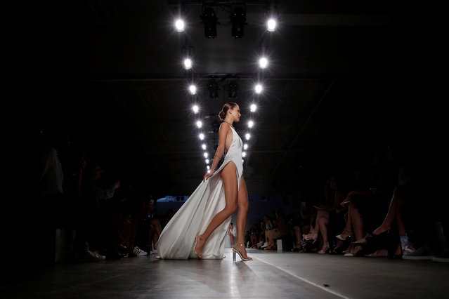 A model presents a creation from Natalie Rolt Spring/Summer 2017 collection during the Fashion Palette show at New York Fashion Week in Manhattan, New York, U.S., September 8, 2016. (Photo by Andrew Kelly/Reuters)