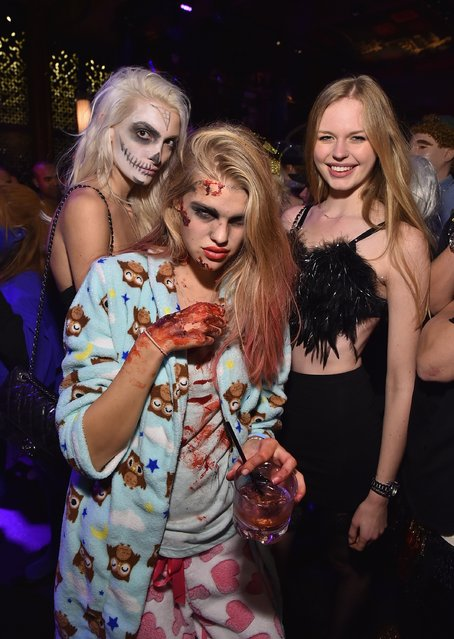 Guests attend Moto X presents Heidi Klum's 15th Annual Halloween Party sponsored by SVEDKA Vodka at TAO Downtown on October 31, 2014 in New York City. (Photo by Mike Coppola/Getty Images for Heidi Klum)