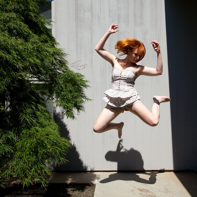 """""""Jumpology"""". """"Birthday jump!"""". (Photo by Bex Finch)"""