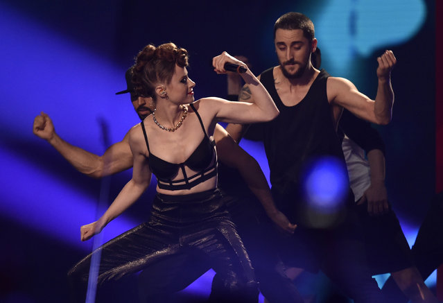 Singer Kiesza performs during the 2014 MTV Europe Music Awards at the SSE Hydro Arena in Glasgow. (Photo by Toby Melville/Reuters)