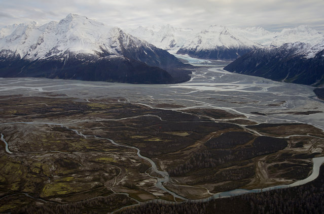 Tatshenshini-Alsek Park is seen during a flight over northwest British Columbia. (Photo by Bob Strong/Reuters)