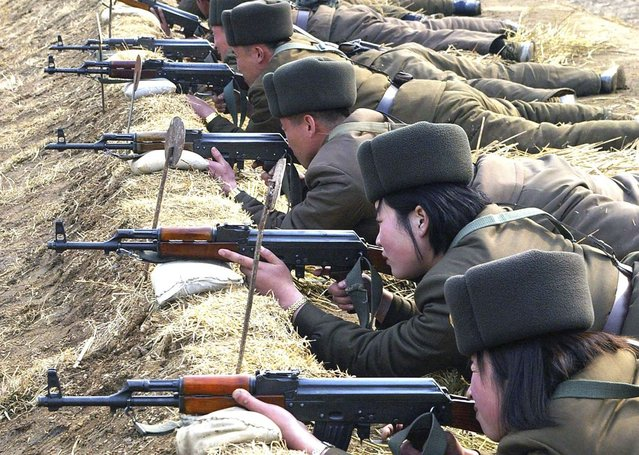 North Korean soldiers attend military training in this picture released by the North's official KCNA news agency in Pyongyang March 7, 2013. (Photo by Reuters/KCNA)