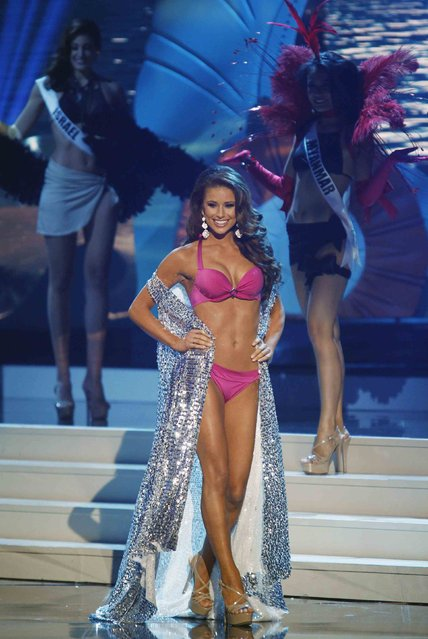 Miss USA Nia Sanchez takes part in the swimsuit portion of the 63rd Annual Miss Universe Pageant in Miami, Florida, January 25, 2015. Sanchez finished as first runner up in the competition. (Photo by Andrew Innerarity/Reuters)