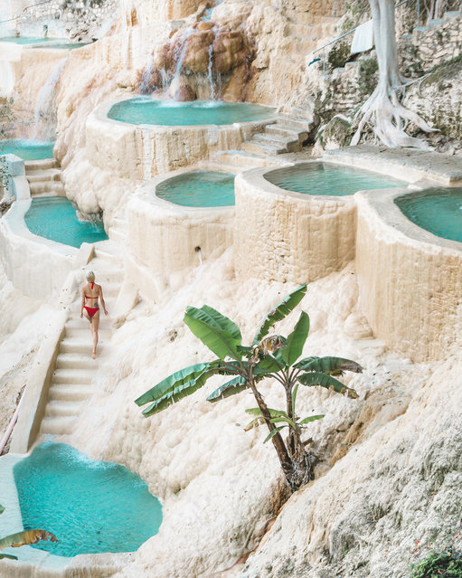 "World's Greatest Swimming Pools: Grutas Tolantongo , Hidalgo, Mexico. Don't be turned off by the nearly four-hour drive from Mexico City. After arriving, you'll be rewarded with a cascading throng of thermal pools filled with mineral-rich water. Once you're ready to leave this breathtaking spot, keep your suits on for the resort's hot-spring river or wandering the caves (""grutas"") interiors, which have waterfalls and warm aqua pura simmering throughout. (Day pass from $7.54, rooms from $26.94). (Photo by Laura Sausina/Fun Life Crisis)"