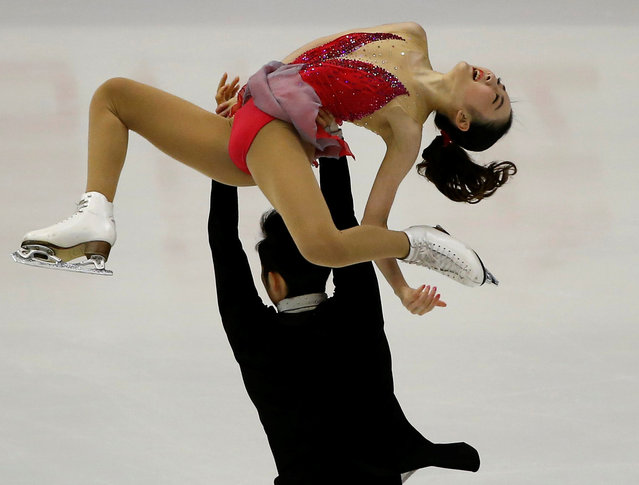 Figure Skating, ISU Grand Prix of Figure Skating NHK Trophy 2016/2017, Pairs Short Program, Sapporo, Japan on November 25, 2016. Xuehan Wang and Lei Wang of China compete. (Photo by Issei Kato/Reuters)