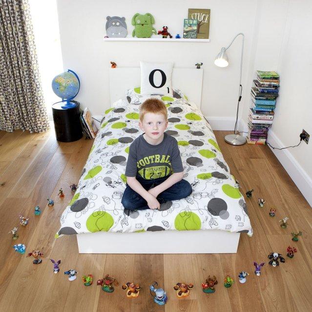 """Oscar, 7 - Bradfortd on Avon, U.K. """"Toy Stories"""" project. (Gabriele Galimberti)"""
