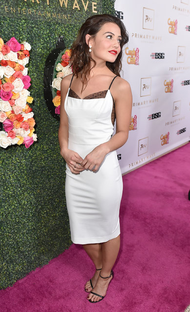 Danielle Campbell arrives at the Candy Crush Jelly Saga – Primary Wave Pre-Grammy Party at The London Hotel on Sunday, February 14, 2016, in Los Angeles. (Photo by Jordan Strauss/Invision for Ketchum (New York)/AP Images)