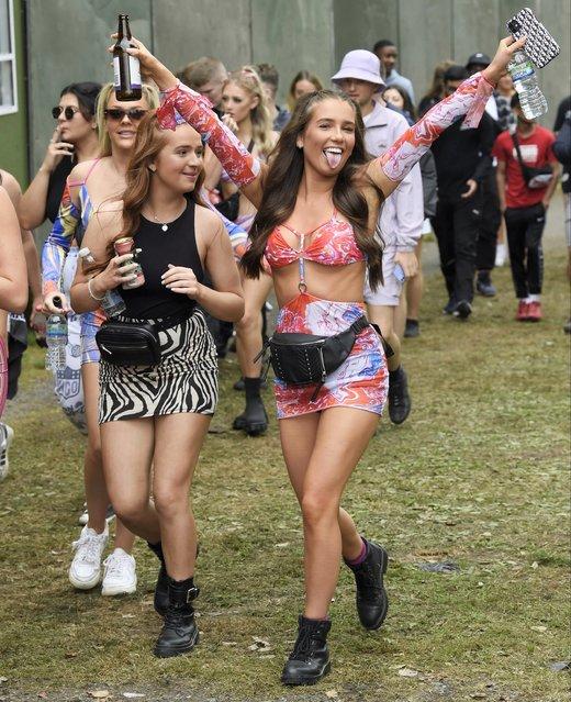 Festival goers enjoy Parklife festival at Heaton Park on September 11, 2021 in Manchester, United Kingdom.  (Photo by Backgrid UK)