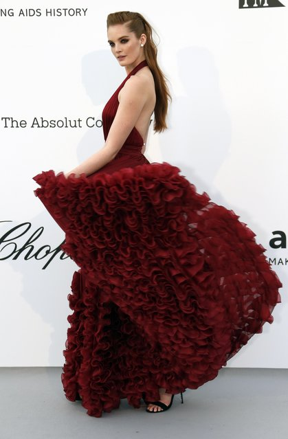 Alexina Graham poses for photographers upon arrival at the amfAR, Cinema Against AIDS, benefit at the Hotel du Cap-Eden-Roc, during the 72nd international Cannes film festival, in Cap d'Antibes, southern France, Thursday, May 23, 2019. (Photo by Eric Gaillard/Reuters)