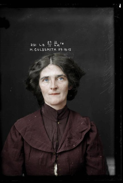 Thief Muriel Goldsmith, criminal record number, 231LB, 29 October 1915. State Reformatory for Women, Long Bay, NSW. (Photo by My Colorful Past/Mediadrumworld)