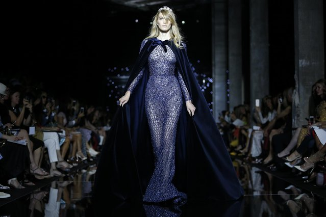 A model presents a creation by Lebanese designer Zuhair Murad as part of his Haute Couture Fall Winter 2015/2016 fashion show in Paris, France, July 9, 2015. (Photo by Stephane Mahe/Reuters)