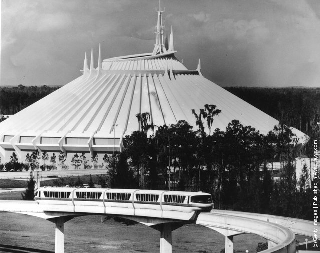 1979: Space Mountain at Disney World in Florida